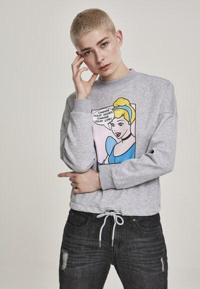 Merchcode Sweatshirt in de kleur Blauw / Geel / Grijs: Vooraanzicht