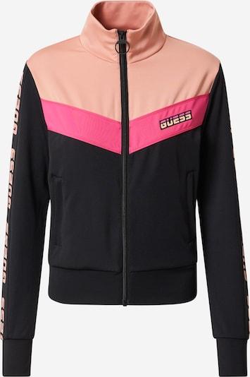 GUESS Sweatjacke in rosa / schwarz, Produktansicht