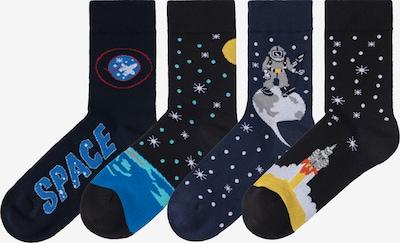 HIS JEANS Socken in dunkelblau / schwarz / weiß, Produktansicht