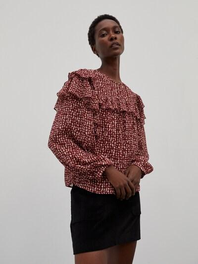 EDITED Bluse 'Tatiana' in mischfarben / rot, Modelansicht
