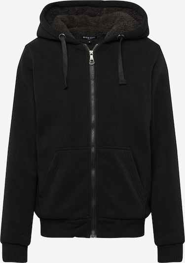 BRAVE SOUL Sweat jacket 'ZONEC' in black, Item view