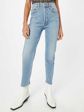 RE/DONE Jeans 'STOVE PIPE' i blå