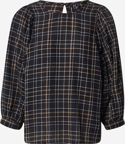 VERO MODA Bluse 'Flo' in braun / schwarz / weiß, Produktansicht