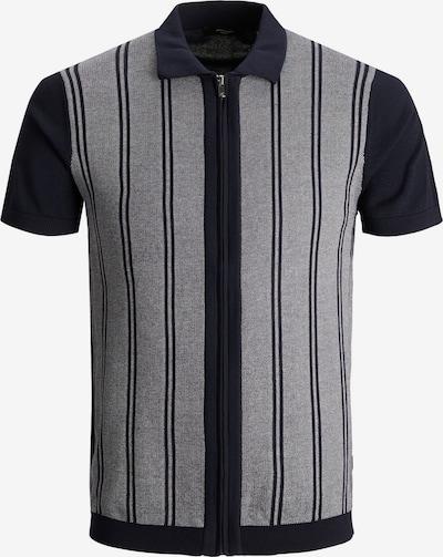 JACK & JONES Vestes en maille en bleu outremer / gris chiné, Vue avec produit