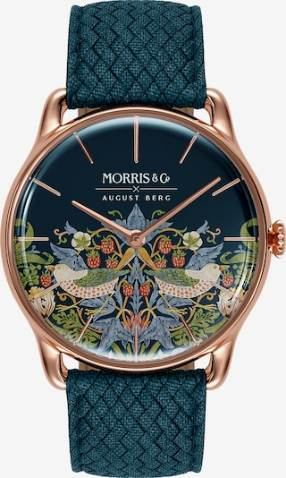 August Berg Uhr 'MORRIS & CO Rose Gold Indigo Perlon 38mm' in blau, Produktansicht
