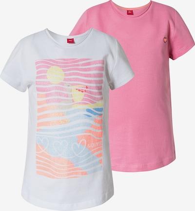 s.Oliver T-Shirt in blau / gelb / pink / weiß, Produktansicht