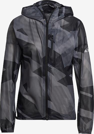 adidas Terrex Athletic Jacket 'Agravic' in Graphite / Stone / Dark grey / White, Item view
