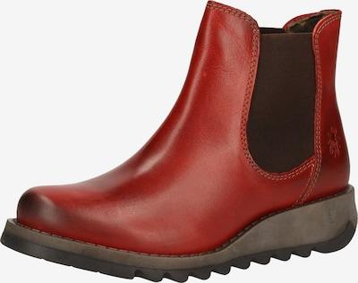 FLY LONDON Chelsea Boots in dunkelbraun / karminrot, Produktansicht
