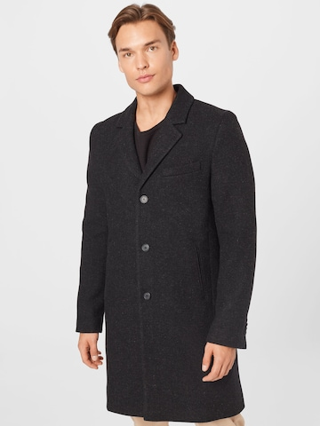 Manteau mi-saison 'Ian' Brixtol Textiles en noir
