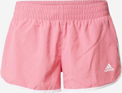 ADIDAS PERFORMANCE Workout Pants 'Marathon 20' in Pink / White, Item view