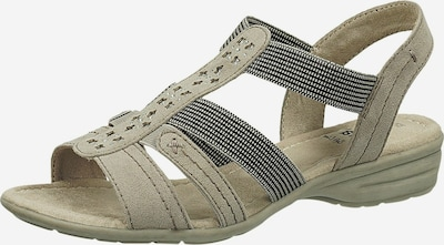 JANA Sandale in hellgrau / schwarz, Produktansicht
