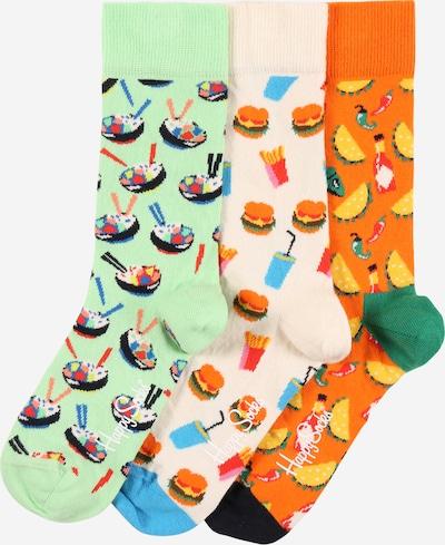 Happy Socks Socken 'Food Lover' in hellgrün / mischfarben / dunkelorange / wollweiß, Produktansicht
