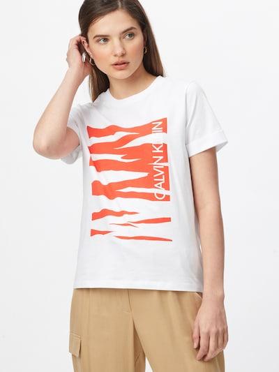 Calvin Klein Shirt in orange / weiß: Frontalansicht