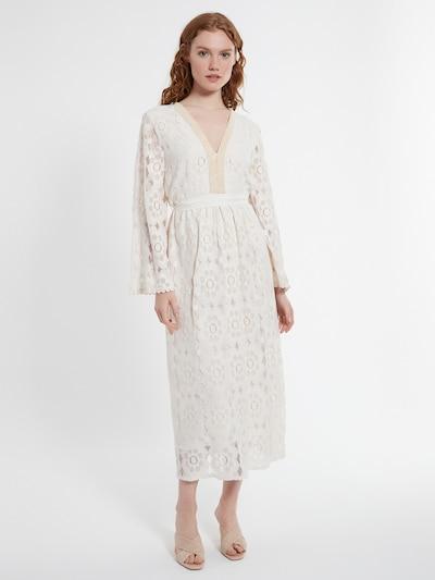 Ana Alcazar Abendkleid ' Danicella ' in beige / weiß, Modelansicht