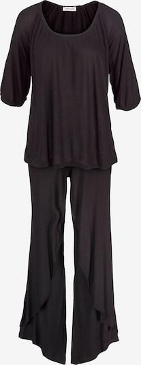 Pigiama LASCANA di colore nero: Vista frontale