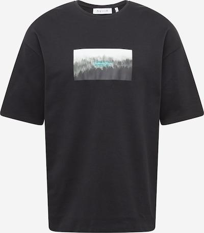 szürke / fekete NU-IN Póló 'Nature Print', Termék nézet