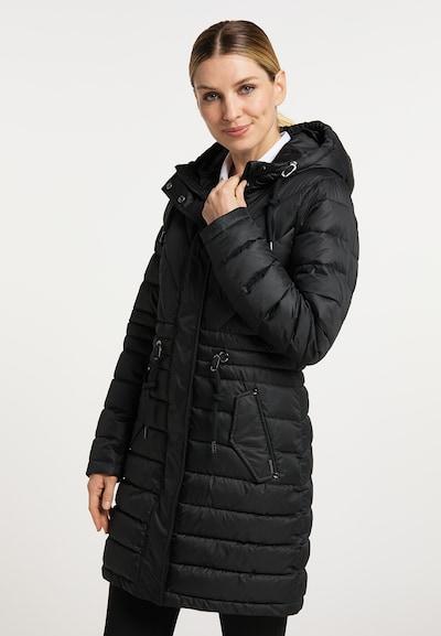 usha BLACK LABEL Between-Seasons Coat in Black, View model