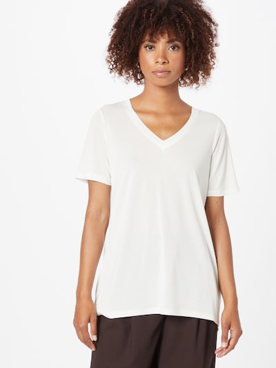 SOAKED IN LUXURY T-Shirt 'Columbine' in weiß: Frontalansicht