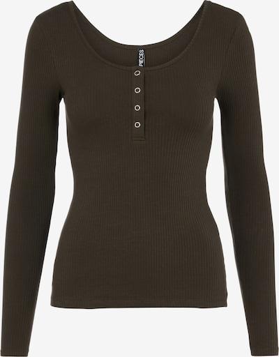 PIECES T-Shirt 'Kitte' in dunkelbraun, Produktansicht