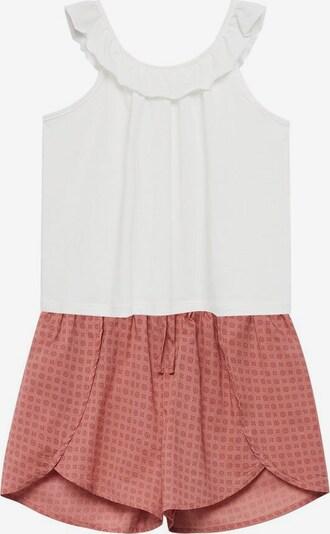 MANGO KIDS Pyjama 'Boho' in rosé / dunkelpink / weiß, Produktansicht