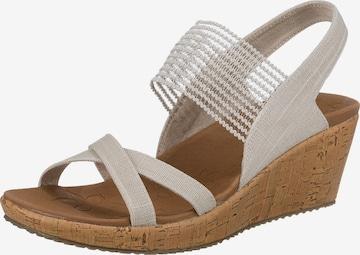 SKECHERS Sandale in Beige
