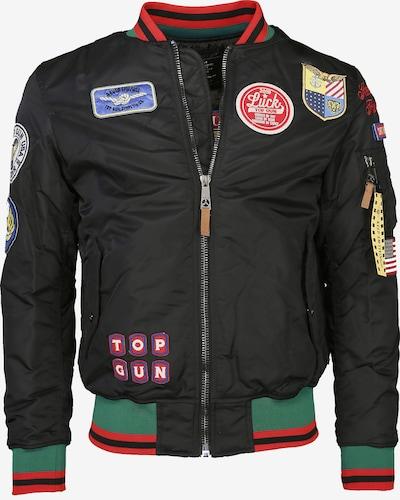 TOP GUN Jacke in jade / rot / schwarz, Produktansicht