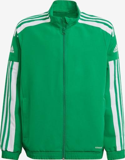 ADIDAS PERFORMANCE Sportjacke in grün / weiß, Produktansicht
