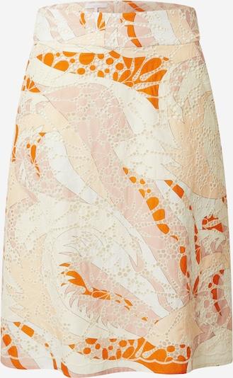 CINQUE Jupe 'KULT' en beige / mélange de couleurs / orange, Vue avec produit