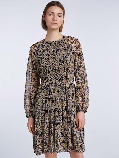SET Kleid in gelb / lachs / schwarz / weiß, Modelansicht