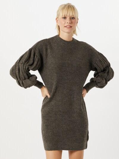 VERO MODA Kleid 'Waffle' in dunkelbraun, Modelansicht