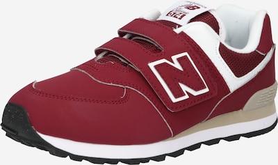 new balance Sneaker in karminrot / weiß, Produktansicht