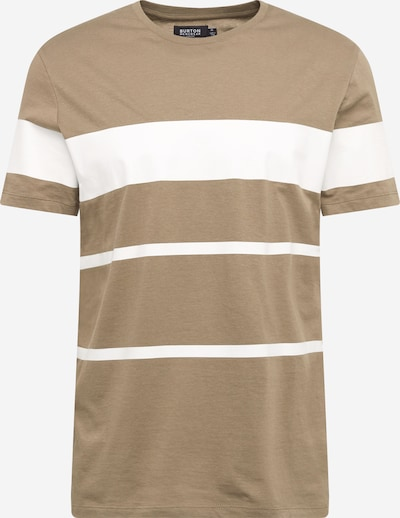 BURTON MENSWEAR LONDON Shirt in khaki / weiß, Produktansicht