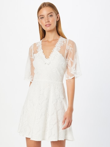Forever Unique Cocktail Dress in White