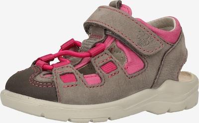 Pepino Sandale in hellgrau / dunkelgrau / pink, Produktansicht