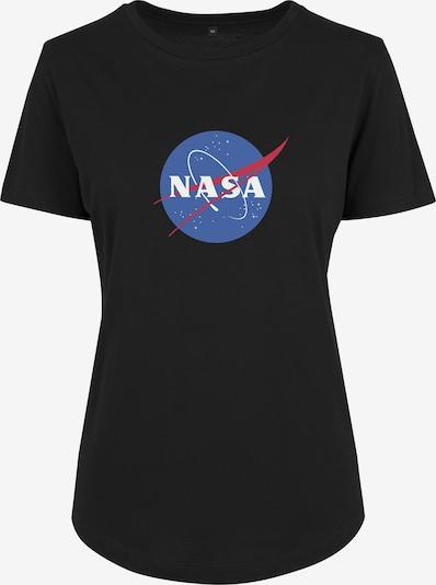Merchcode T-Shirt 'NASA Insignia' in rauchblau / cranberry / schwarz / weiß, Produktansicht
