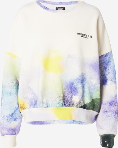 PARI Sweatshirt 'SPORTS CLUB' in Yellow / Dark green / violet / White, Item view