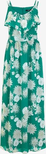 COMMA Kleid in sand / hellgrau / grün / weiß, Produktansicht
