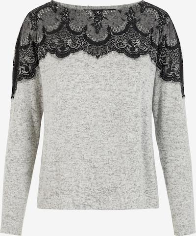 VERO MODA Shirt 'BLIMA' in hellgrau / schwarz, Produktansicht