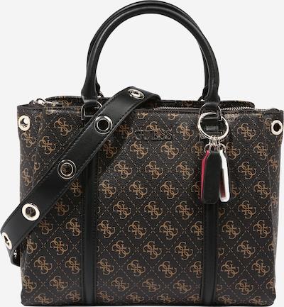GUESS Håndtaske 'Washington' i cognac / mørkebrun / sort, Produktvisning