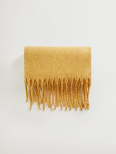 MANGO Schal in pastellgelb, Produktansicht