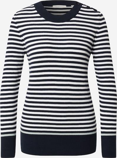 KnowledgeCotton Apparel Pullover 'MYRTHE' in dunkelblau / weiß, Produktansicht