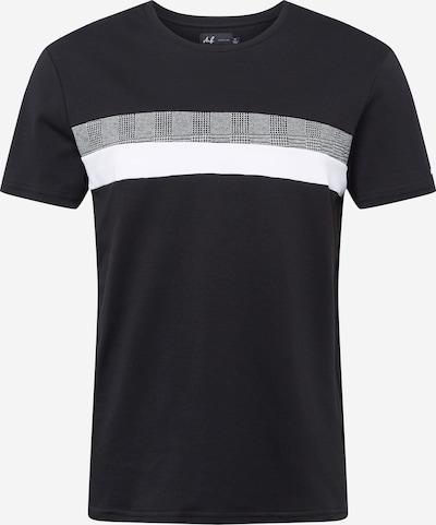 Maglietta BURTON MENSWEAR LONDON di colore grigio chiaro / nero / bianco, Visualizzazione prodotti