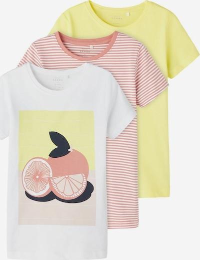 Tricou NAME IT pe galben / roze / alb, Vizualizare produs
