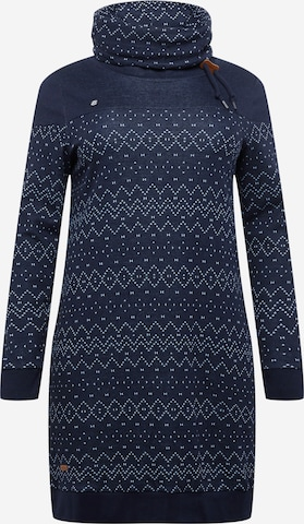 Ragwear Plus Jurk 'CHLOE' in Blauw