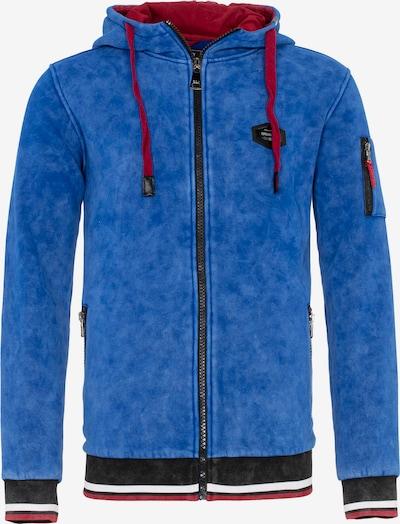 CIPO & BAXX Sweatvest in de kleur Blauw / Rood / Zwart, Productweergave