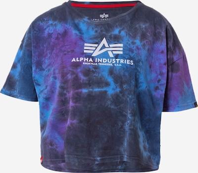 ALPHA INDUSTRIES Тениска в нощно синьо / светлосиньо / лилав / бяло, Преглед на продукта