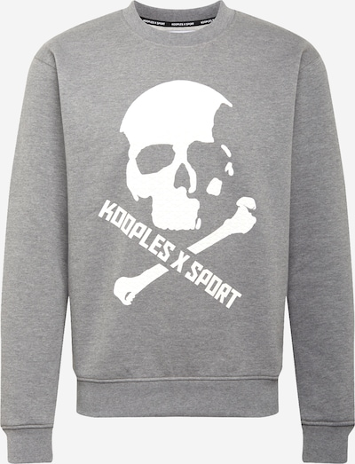 THE KOOPLES SPORT Sweatshirt in grey / white, Item view