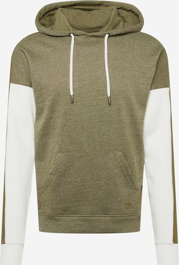 BLEND Sweatshirt i khaki / hvid, Produktvisning