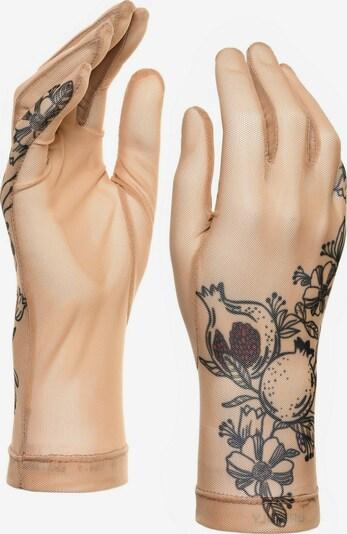 BRIKOLY Fingerhandschuhe in beige / schwarz / transparent, Produktansicht