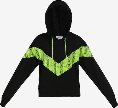myMo ATHLSR Sportsweatshirt in neongrün / schwarz, Produktansicht